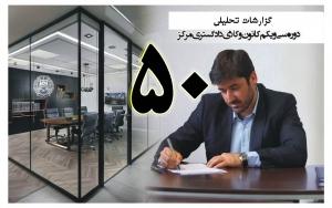 گزارش تحلیلی دکتر سهیل طاهری درخصوص پنجاهمین جلسه هیات مدیره کانون وکلای مرکز/50