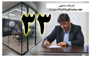 گزارش تحلیلی دکتر سهیل طاهری درخصوص سی و سومین جلسه هیات مدیره کانون وکلای مرکز/33